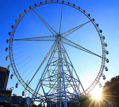 fair wheel in amusement park