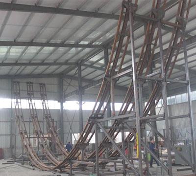 half loop roller coaster