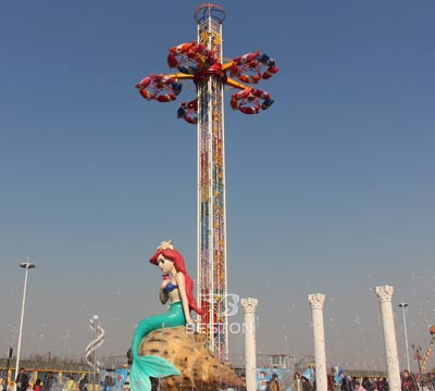 Interstellar flying saucers drop tower manufacturer